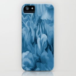 Midnight Blue Petal Ruffle Abstract iPhone Case