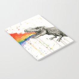 T-Rex Rainbow Puke Notebook