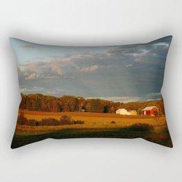 Wisconsin Farmscape Rectangular Pillow