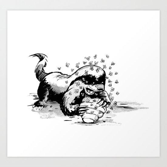 Honey Badger Art Print
