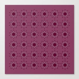 Strawberry Star burst Canvas Print