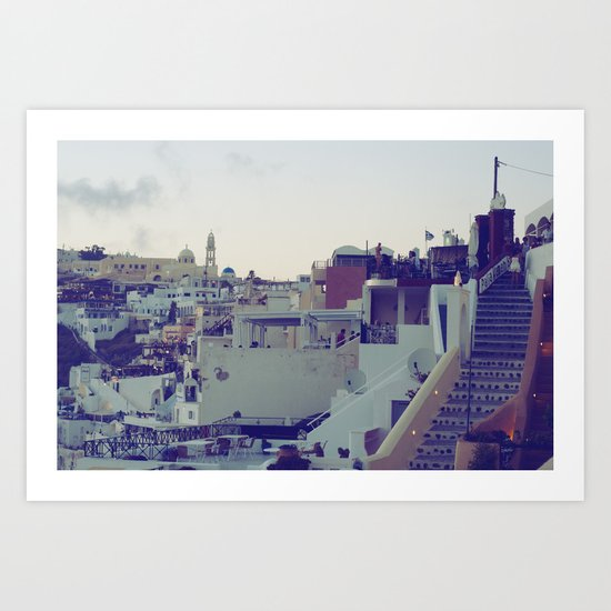 Fira at Dusk V Art Print