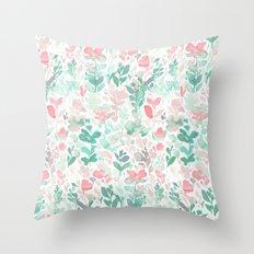Flirt Mint Blush Throw Pillow