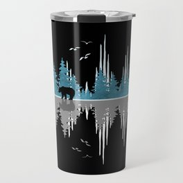 The Sounds Of Nature - Music Sound Wave Travel Mug