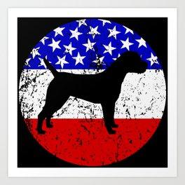 American Flag Border Terrier Art Print
