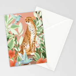 Tropical Cheetah Stationery Cards