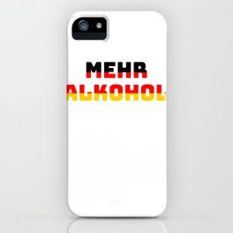 Alcohol holiday gift Germany iPhone Case