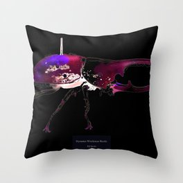 Dynastes Wirelessus Beetle Throw Pillow
