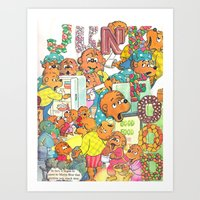junk food Art Prints featuring JUNK FOOD by PIZZZA TIME