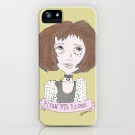 Mathilda is asking you to open the door...  iPhone Case