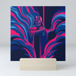"""""""Neon Darth Vader"""" by Matt Kehler Mini Art Print"""