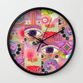 colorful words of a poem Wall Clock