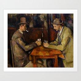 Paul Cézanne - The Card Players - Les Joueurs de Cartes Art Print