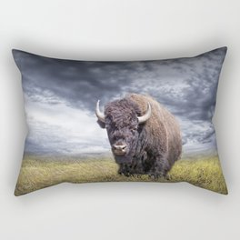 Plains Buffalo on the Prairie Rectangular Pillow