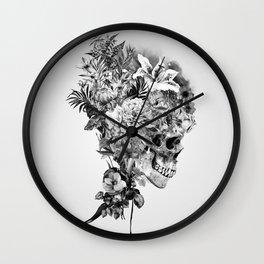 Skull VI BW Wall Clock