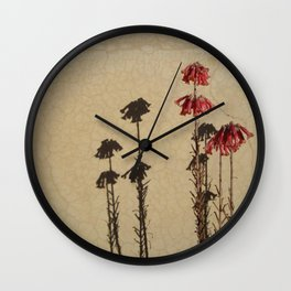 Shadows and flowers Wall Clock