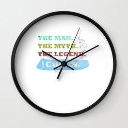 The Man, The Myth, The Legend, The Icehockey Coach Wall Clock
