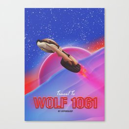 Wolf 1061 vintage travel poster Canvas Print