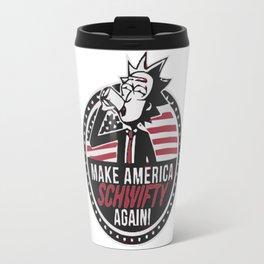 rick & morty make amerika Travel Mug