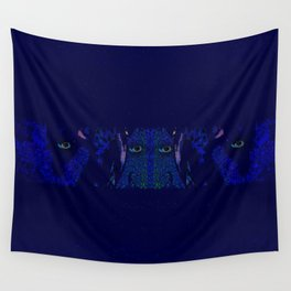 Cows At Midnight Wall Tapestry