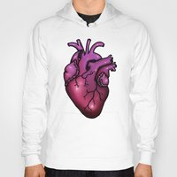anatomical heart Hoodies featuring Anatomical Heart by Hungry Designs