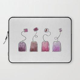 Pink Tea Bags Laptop Sleeve