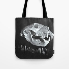 Bear Skull Still Life Tote Bag