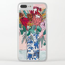 Australian Native Bouquet of Flowers after Matisse Clear iPhone Case