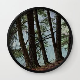 NORTH END OF MOUNTAIN LAKE Wall Clock