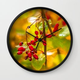 Autumn drops Wall Clock