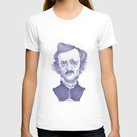 edgar allan poe T-shirts featuring Edgar Allan Poe illustration by Stavros Damos