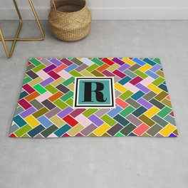 R Monogram Rug