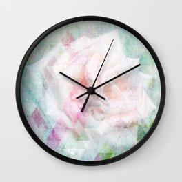 Triangle Rose Wall Clock