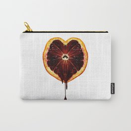 Blood Orange Heart Carry-All Pouch