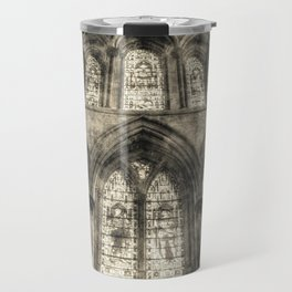 Rochester Cathedral Stained Glass Windows Vintage Travel Mug