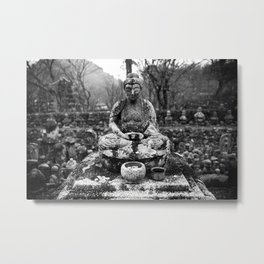 Buddha in the snow Metal Print