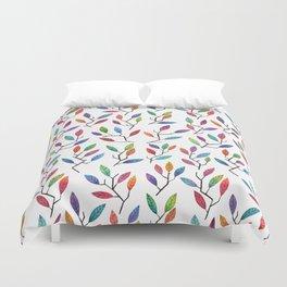 Leafy Twigs - Multicolored Duvet Cover