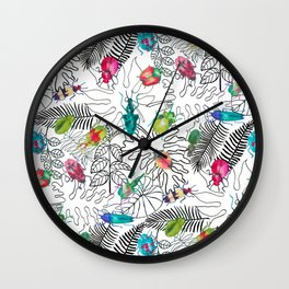 Beetle Bug Collection Wall Clock