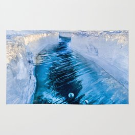 The crack of Baikal ice Rug