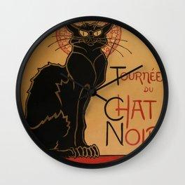 Le Chat Noir - Cabaret Poster Wall Clock