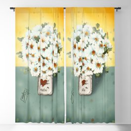 Jar of Daisies Blackout Curtain