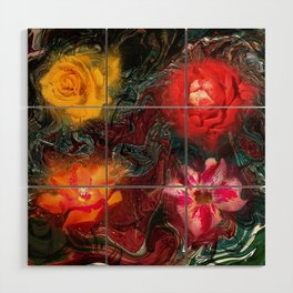 Bouquet Abstraction Series  Wood Wall Art
