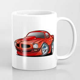 Classic Seventies American Muscle Car Cartoon Coffee Mug