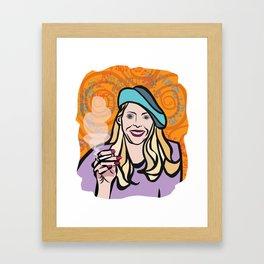 Joni Mitchell portrait Framed Art Print