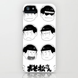 Six Same Faces iPhone Case