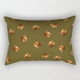 Acorn Pattern-Olive Rectangular Pillow