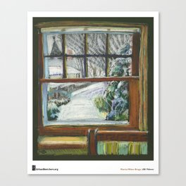"Marcia Milner-Brage, ""Snow Again Out Front Window"" Canvas Print"