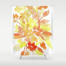 Yellow-Orange Flowers Shower Curtain