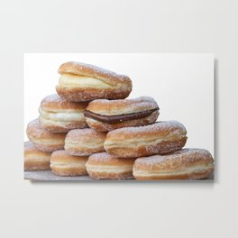 cream and chocolate donuts Metal Print