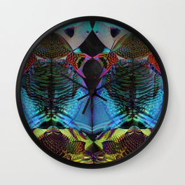 Poisonous Poissons Wall Clock